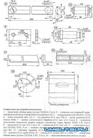 Бетономешалка спиральная