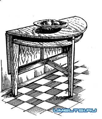 Самодельный круглый стол