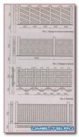 Забор для дачи своими руками — советы, фото
