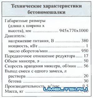 Бетономешалка-помощница