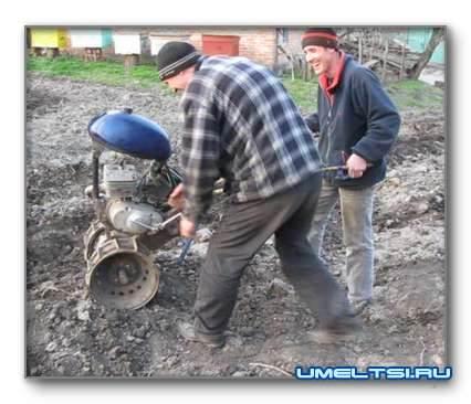 Мотоблок с мотоцикла