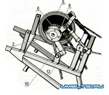 Почвообрабатывающий агрегат мотоокучник-культиватор