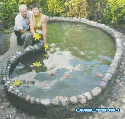 Декоративный бассейн(водоем) на даче отчет мастера
