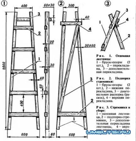 Лестница+стремянка своими руками