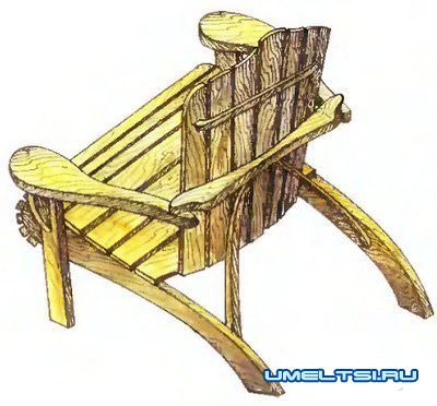 Кресло - шезлонг Адирондак
