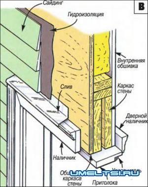 монтаж входной металлической двери в каркасном доме