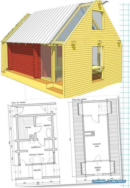 Строительство уютной бани (поэтапно)