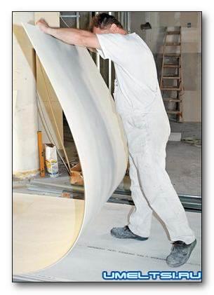 Ломаные формы из гипсокартона