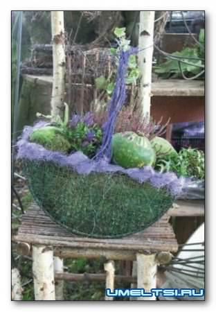 Корзина цветов для сада