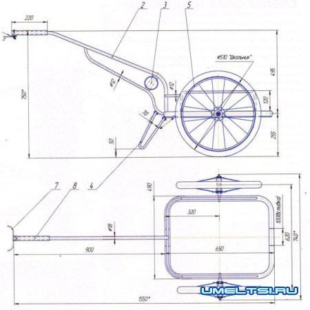 Изготовление велоприцепа своими руками из подручных материалов