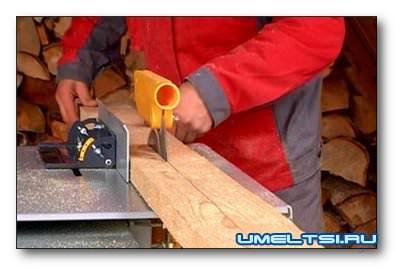 Обработка древесины с дефектами