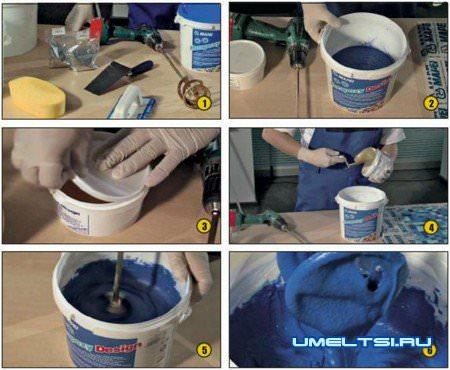 Как затирать швы на плитке: технология затирки