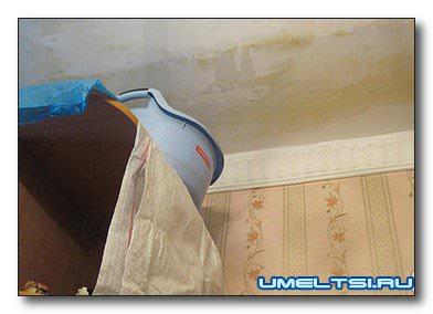 Затопили соседи. Ремонт потолка.