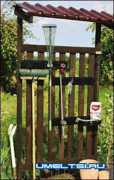 Стенд для садового инвентаря