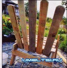 Садовое кресло своими руками