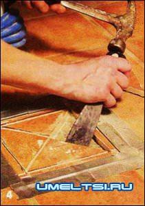 Замена треснувшей плитки