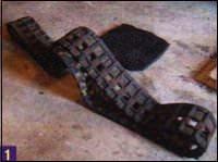 Гусеницу для скутера можно вырезать из старой гусеницы от снегохода «Буран»