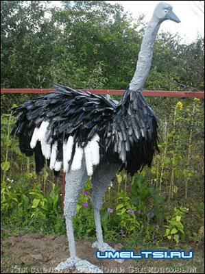 страус из монтажной пены