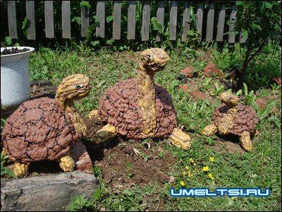 черепахи из пены