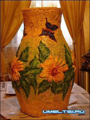 ваза из пены