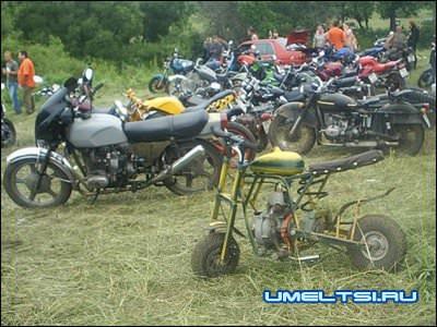 мотор на велосипед от бензопилы