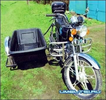Самодельная коляска к мопеду Альфа