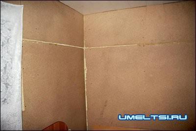 С внутренней стороны стены также утеплены прошивными матами и обшиты листами ДСП толщиной 16мм.