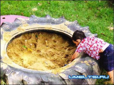 детская площадка из покрышек