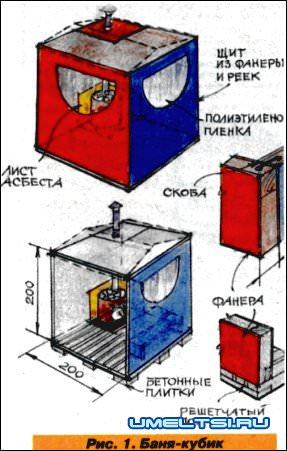 Строим баню легко и быстро