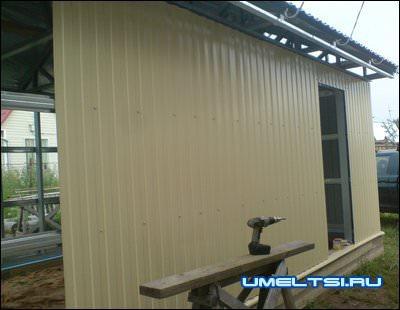 фасад для каркасного гаража