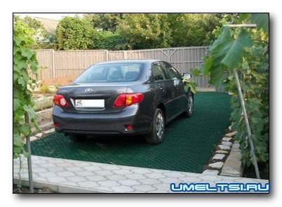 Обустройство парковки на даче