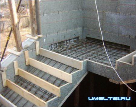опалубка для бетонных лестниц