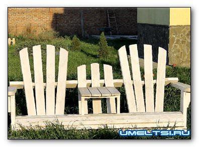 Садовый диванчик в стиле Адирондак