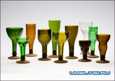 поделки из стеклянной бутылки