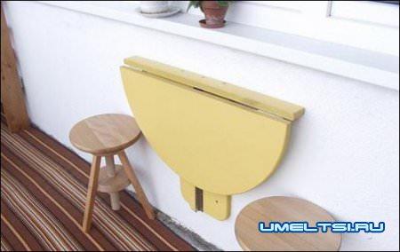 привинчуем стол к стене
