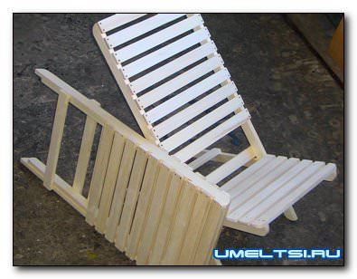 Кресло шезлонг своими руками