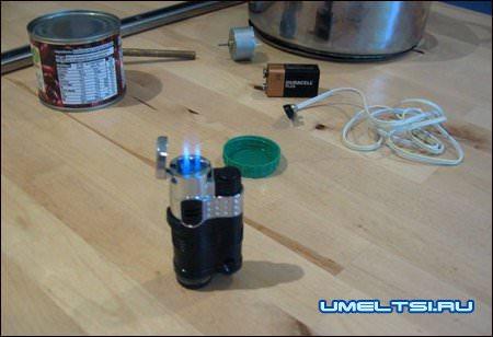 Аппарат для сладкой ваты-закрепляем зажигалку