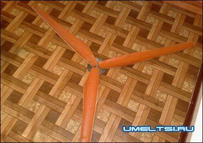 Ветрогенератор из асинхронного двигателя винт