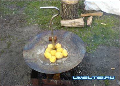 Самодельная сковорода на рыбалку