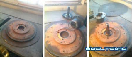 Механизм вращение груши бетономешалки