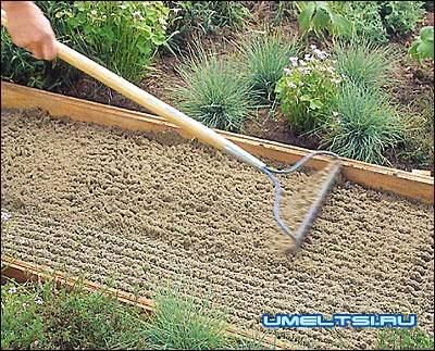 дорожка с плитняка засыпаем песком