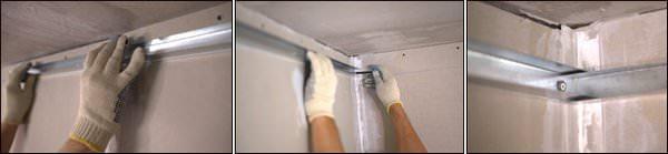 потолок-закрепление профиля
