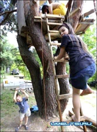 Дети приняли активное участие в строительстве
