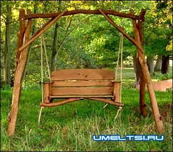 Скамейки для сада своими руками