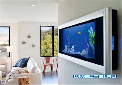 аквариумы в интерьере
