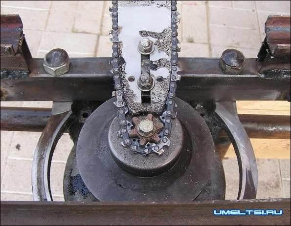 Цепная пилорама с электродвигателем