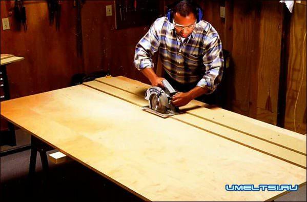 Как сделать раскрой стеллажа своими руками