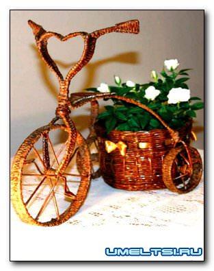 Кашпо-велосипед своими руками
