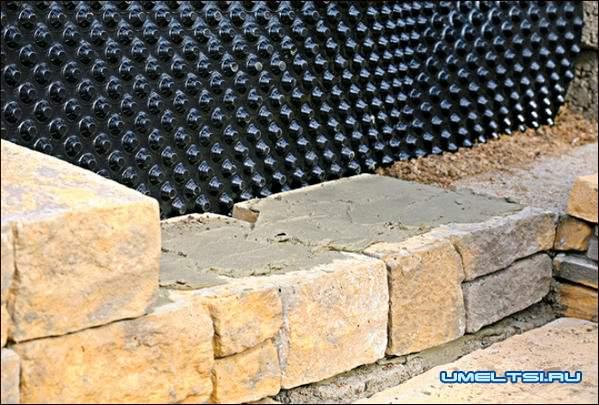 Строительство бетонной лестници в саду ход работ