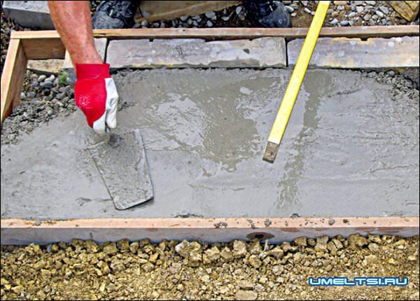 Строительство бетонной лестници в саду